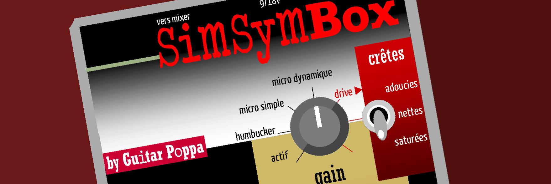 SimSymBox : boîte de direct qui met en valeur la coumeur et le grain de l'instrument